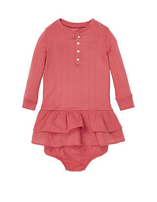 70f440388 Ralph Lauren Childrenswear. Ralph Lauren Childrenswear Baby Girls Ruffled  Cotton Dress and Bloomer
