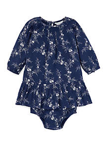 Baby Girls Floral Cotton-Blend Dress