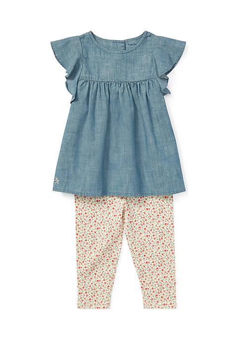 Ralph Lauren Childrenswear Baby Girls Chambray Top &