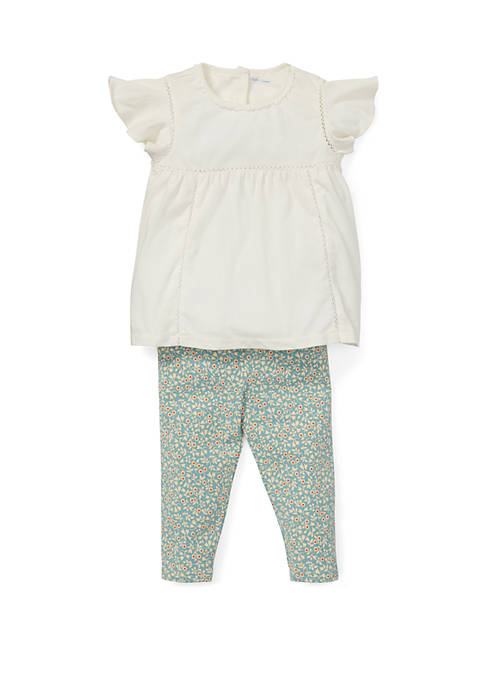 Ralph Lauren Childrenswear Baby Girls Lace Top and