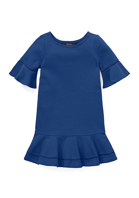 Ralph Lauren Childrenswear Baby Girls Peplum Piqué Bubble