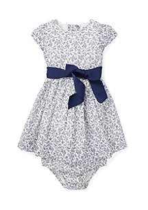 Baby Girls Floral Dress & Bloomer