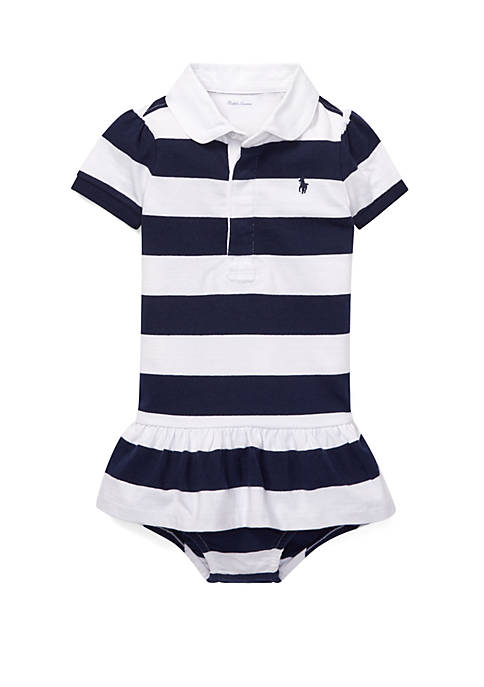 Baby Girls Cotton Jersey Rugby Dress