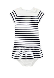 Ralph Lauren Childrenswear Baby Girls Cotton Jersey Tee Dress