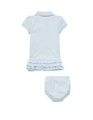 f99f2b107 ... Ralph Lauren Childrenswear Baby Girls Ruffled Polo Dress & Bloomer