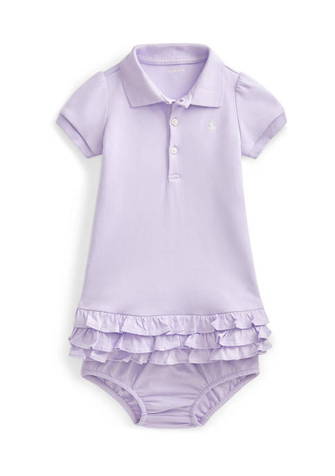 Ralph Lauren Childrenswear Baby Girl Ruffled Polo Dress