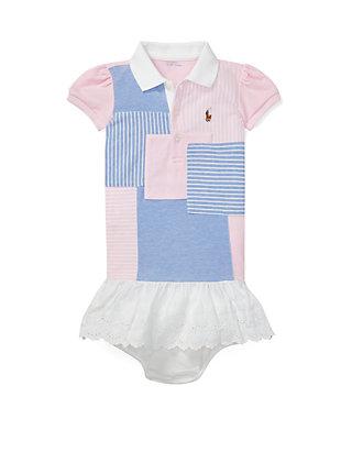 a1ed6ebe0 Ralph Lauren Childrenswear. Ralph Lauren Childrenswear Baby Girls Patchwork Polo  Dress & Bloomer