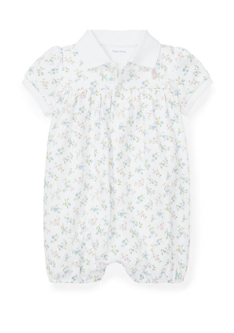 Ralph Lauren Childrenswear Baby Girls Floral Interlock Shortall