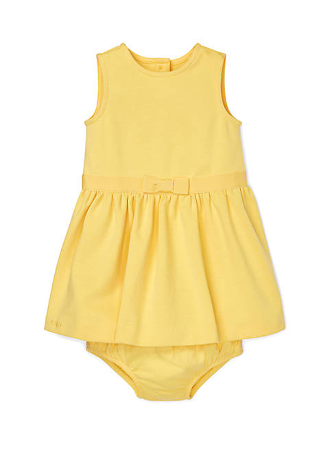 Baby Girls Ponte Dress and Bloomer