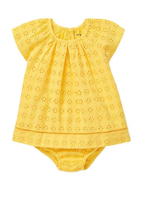 Ralph Lauren Childrenswear Baby Girls Eyelet Cotton Bloomer
