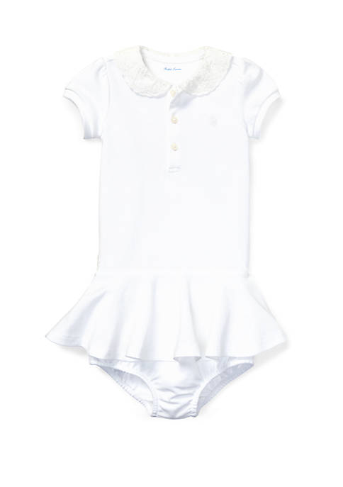 Ralph Lauren Childrenswear Baby Girls Embroidered Dress and