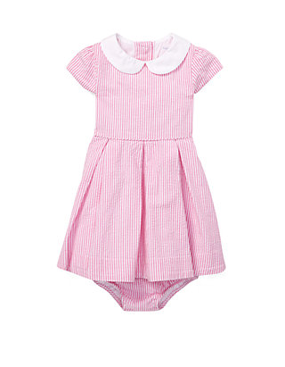 455cdc488 Ralph Lauren Childrenswear Baby Girls Seersucker Dress and Bloomer Set ...