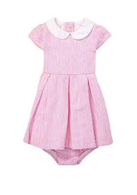 a13e18321 Ralph Lauren Childrenswear Baby Girls Seersucker Dress and Bloomer Set ...