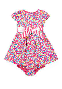 Ralph Lauren Childrenswear Baby Girls Floral Fit and Flare Dress