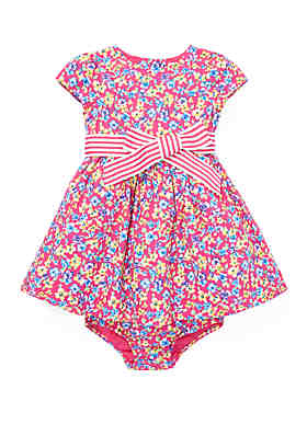 9a94129f3e0 Ralph Lauren Childrenswear Baby Girls Floral Fit and Flare Dress ...