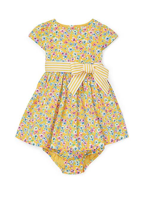 Baby Girls Floral Fit and Flare Dress