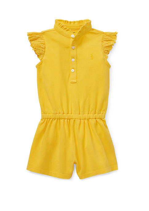 Ralph Lauren Childrenswear Baby Girls Cotton Flutter-Sleeve