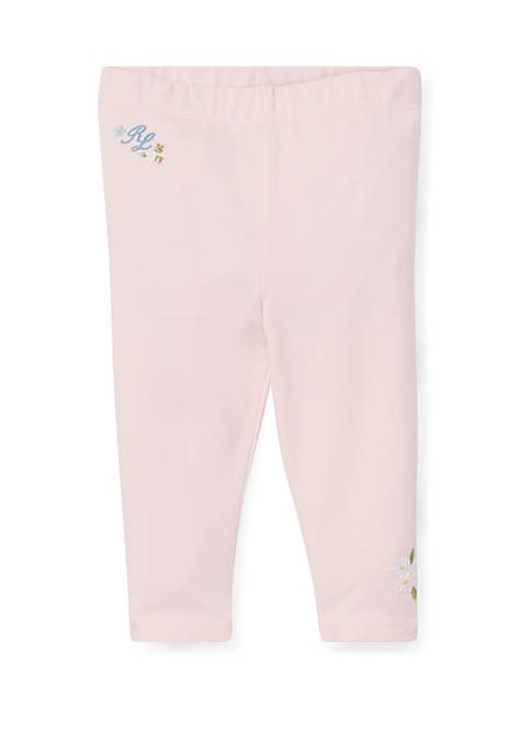Baby Girls Floral Embroidered Leggings