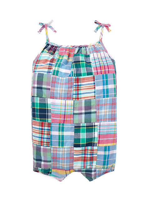 Ralph Lauren Childrenswear Baby Girls Patchwork Madras Shortall