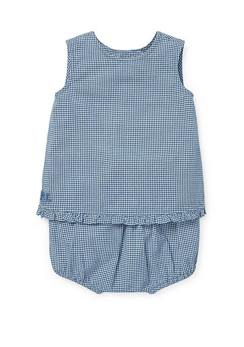 Ralph Lauren Childrenswear Baby Girls Gingham Cotton Top