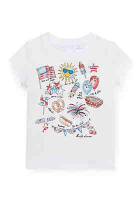 9fe47e6ee Ralph Lauren Childrenswear Baby Girls Cotton Jersey Graphic Tee ...