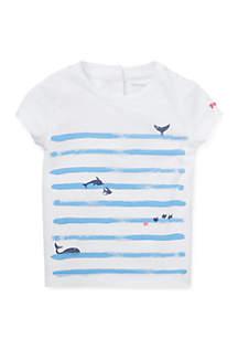 f8ad3fce155dd ... Ralph Lauren Childrenswear Baby Girls Cotton Jersey Graphic Tee