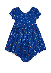 18ef9904d ... Ralph Lauren Childrenswear Baby Girls Sailboat Dress and Bloomer