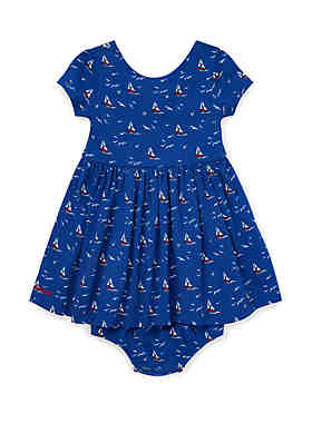 d55010045d907 Ralph Lauren Childrenswear Baby Girls Sailboat Dress and Bloomer ...