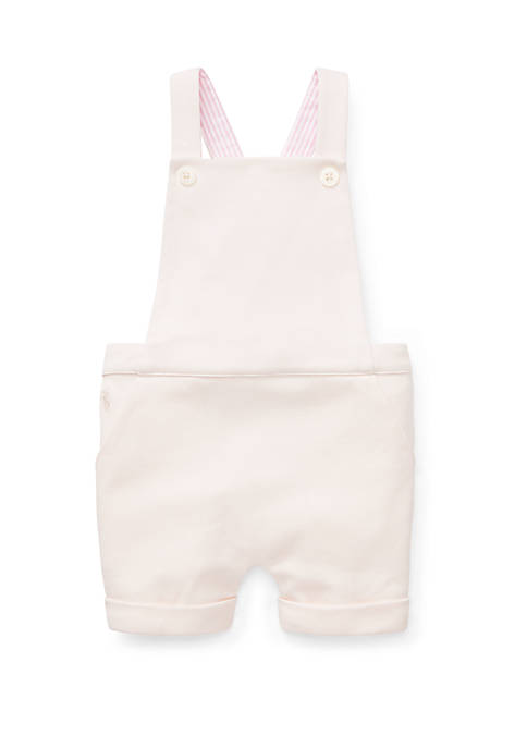 Ralph Lauren Childrenswear Baby Girls Cotton Interlock Overall