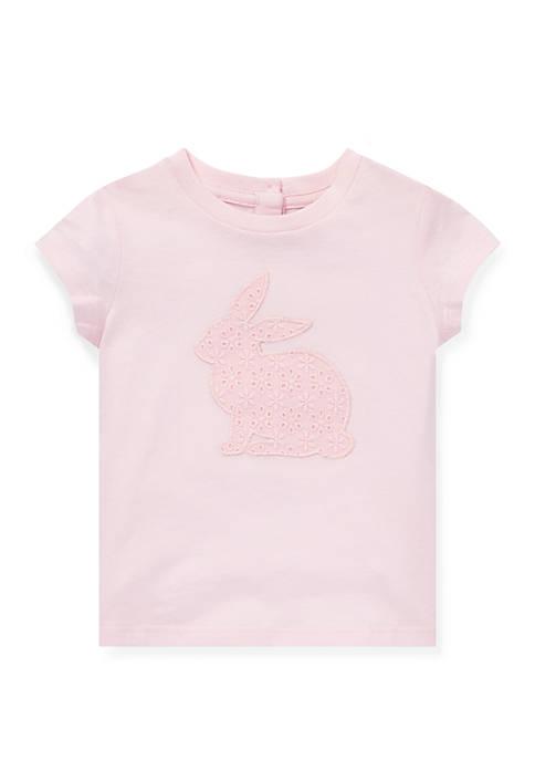 Ralph Lauren Childrenswear Baby Girls Floral Bunny Cotton
