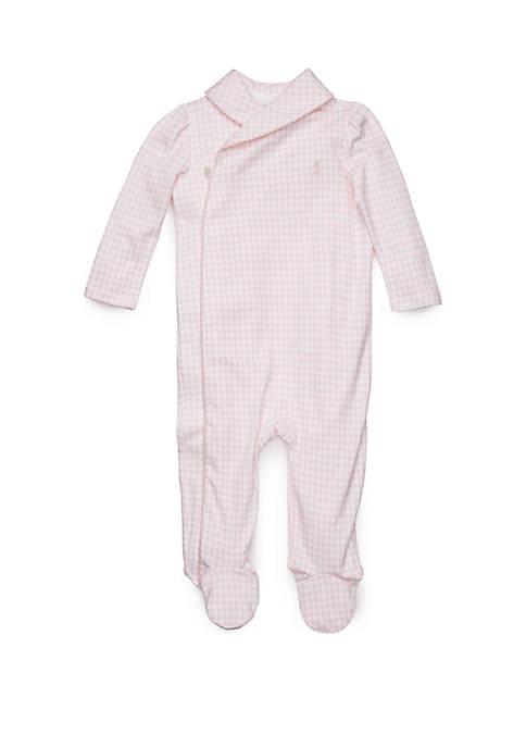 Ralph Lauren Childrenswear Baby Girls Cotton Interlock Coverall
