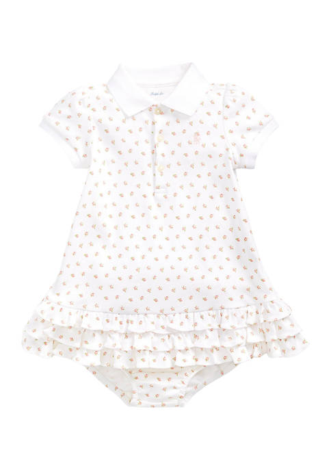 Ralph Lauren Childrenswear Baby Girls Floral Polo Dress