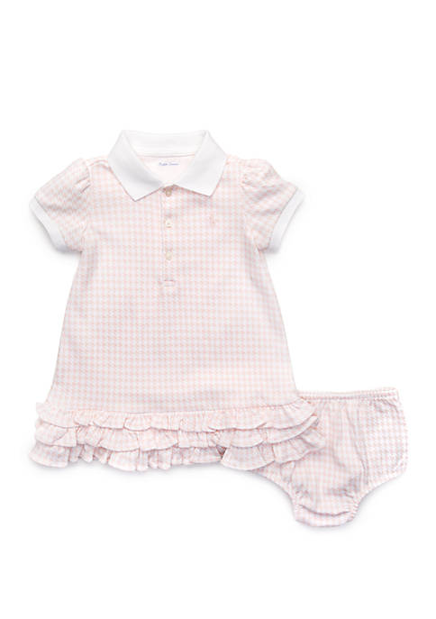 Baby Girls Ruffled Polo Dress and Bloomers
