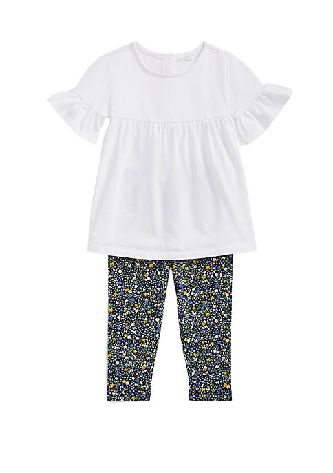 Ralph Lauren Childrenswear Baby Girls Ruffled Top and