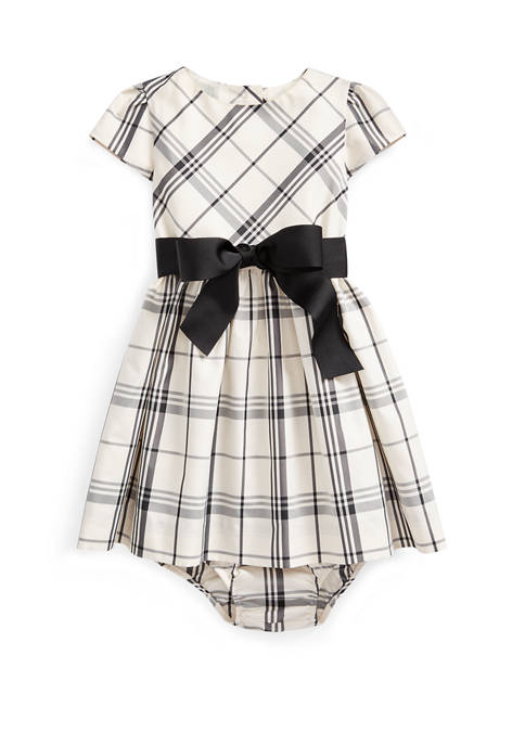Ralph Lauren Childrenswear Baby Girls Plaid Taffeta Dress