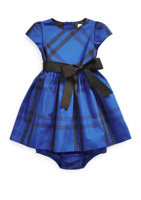 Baby Girls Tartan Dress & Bloomer