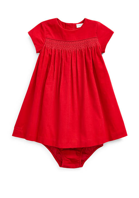 Ralph Lauren Childrenswear Baby Girls Corduroy Woven Dress