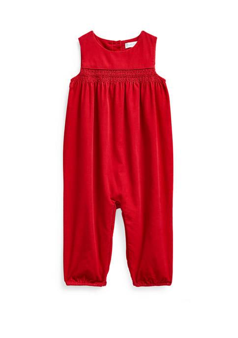 Ralph Lauren Childrenswear Baby Girls Cotton Corduroy Overall