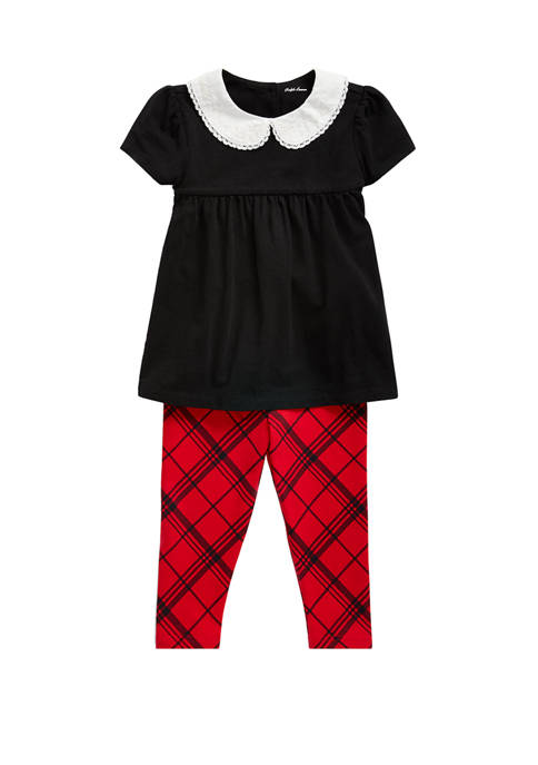 Ralph Lauren Childrenswear Baby Girls Top & Tartan