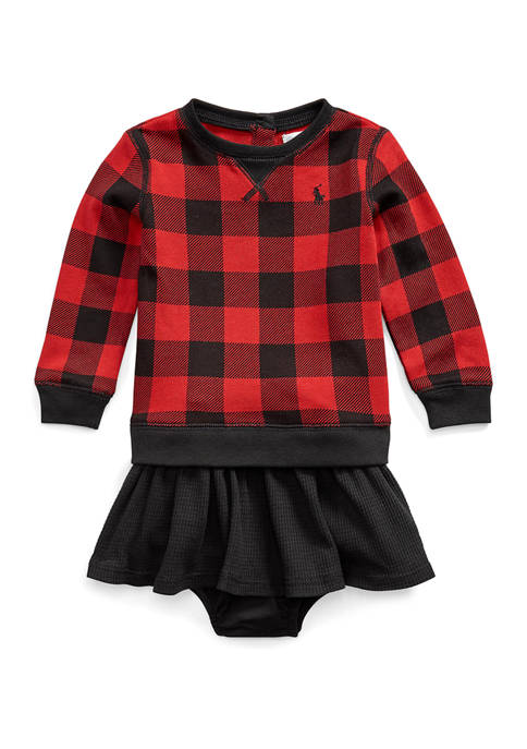 Ralph Lauren Childrenswear Baby Girls Buffalo Check Dress