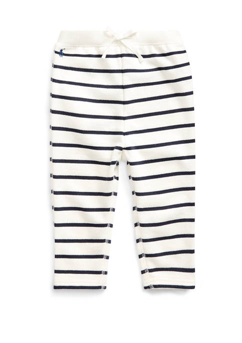 Baby Girls Striped Terry Pant