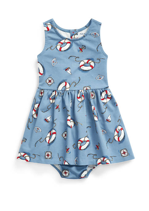 Ralph Lauren Childrenswear Baby Girls Nautical Fit-and-Flare
