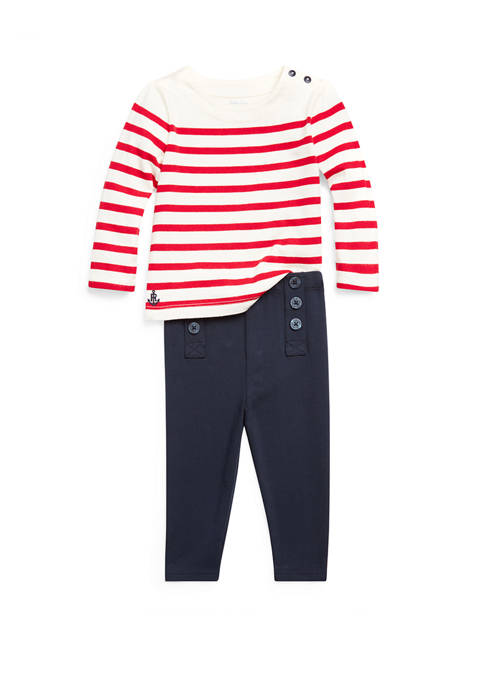 Baby Girls Nautical Top and Sailor Leggings