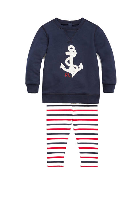 Ralph Lauren Childrenswear Baby Girls Nautical Top and