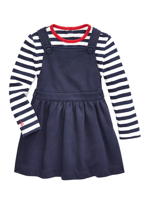 Ralph Lauren Childrenswear Baby Girls T-Shirt and Overall