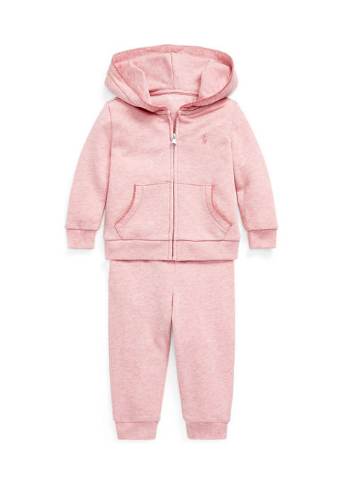 Baby Girls French Terry Hoodie & Pant Set
