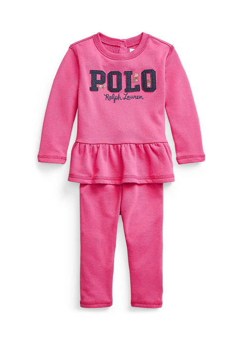 Baby Girl French Terry Top & Jogger Set