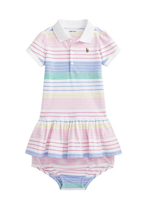 Ralph Lauren Childrenswear Baby Girls Striped Polo Dress