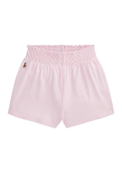 Ralph Lauren Childrenswear Baby Girls Oxford Mesh Shorts