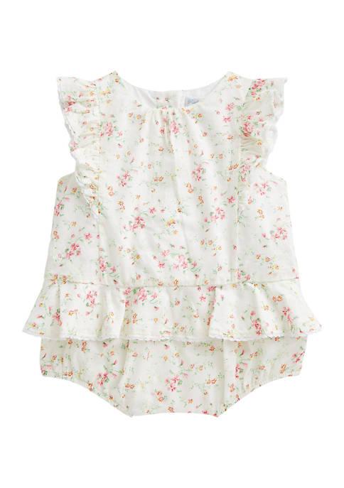 Ralph Lauren Childrenswear Baby Girls Ruffled Top &